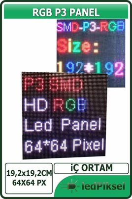 P3 RGB LED PANEL İÇ MEKAN