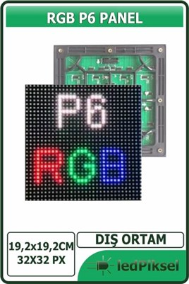 P6 RGB LED PANEL DIŞ MEKAN